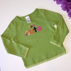 NEW GYMBOREE 4T GREEN TWO TONE LONG SLEEVE SHIRT